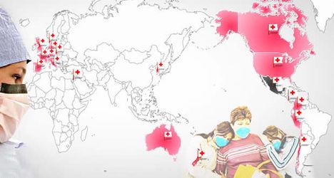 influenza térkép Térkép: Influenza térkép (kép) influenza térkép