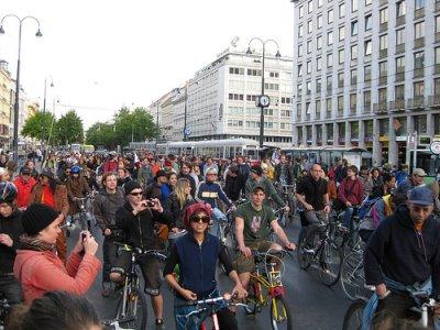 a Critical Mass Bécsben is menő