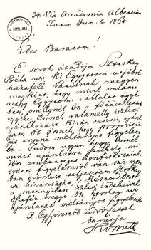 egy üzleti beajánlás 1864-ből