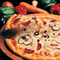 Pizza az alapanyagokkal