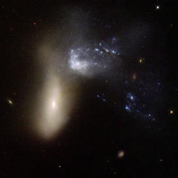 Hubble Interacting Galaxy NGC 454