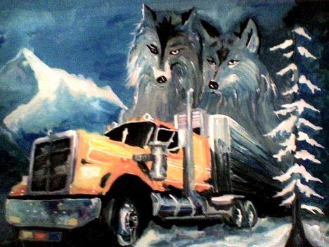 Kamion és farkasok