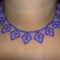 kék levélmintás nyaklánc