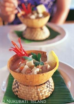 Fidzsi-szigeteki étel és felszolgálás
