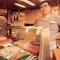 Japán étkezde visszafogott berendezéssel