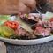 perui kagyló étel