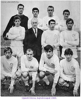 Újpesti Dózsa, bajnokcsapat 1969