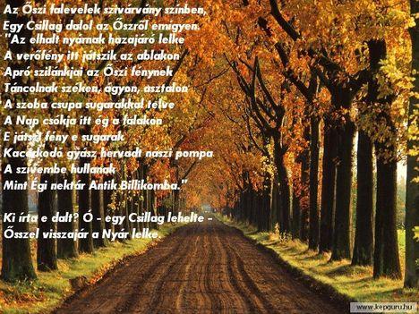 őszi kép verssel