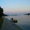 Naplemente Rab szigetén az Eufémia -öbölben