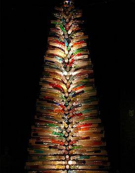 karácsonyfa muránói üvegből