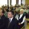 Ünneplő lébényiek, elől Kovács Gábor lébényi polgármester és Gyopáros Alpár csornai  alpolgámester