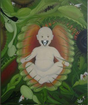 Alfa-Omega inkarnáció, avagy Én vagyok a Fiam - Alpha-Omega incarnation, or I am my Son 50 x 60 olaj