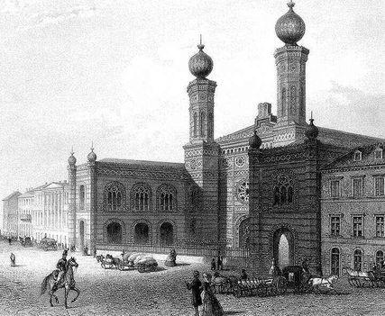 A zsinagóga az 1900-as években