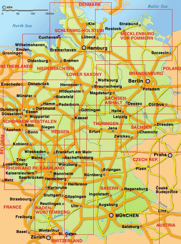 németország térkép Németország: Németország térképen (kép) németország térkép