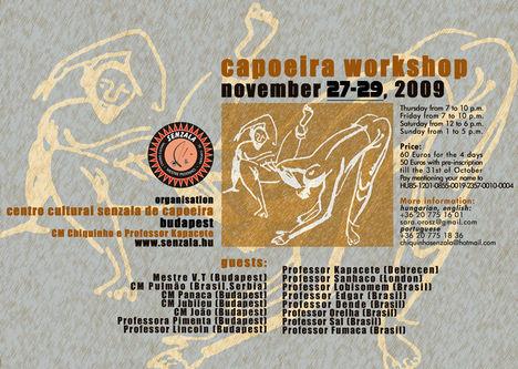 Senzala workshop Budapest 2009 nov