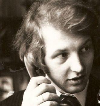Polgár Ernő Illés Árpád műtermáben-1976