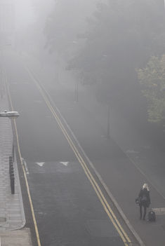 London ködben