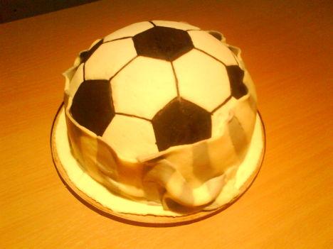 Focirajongó szülinapi tortája