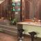 a falipolc világítása ill.a konyha végzáró elemeként egy asztal