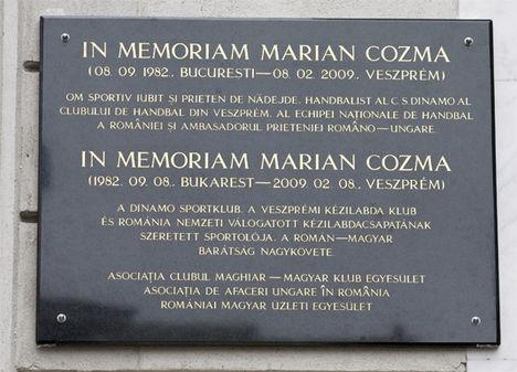 Marian Cozma Emlékhely, Bukarest