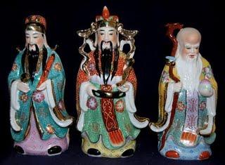 Luk, Fuk és Sau, a Feng Shui istenei