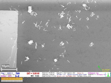nanoszálak a SI lapon