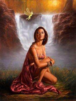 Indián sámán nő