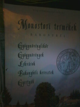 A Bakonybéli Monostor termékei