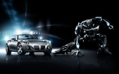 Autobot Jazz promo poster _both vehicle and robot modes_