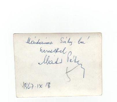 Máté Péter autogramja