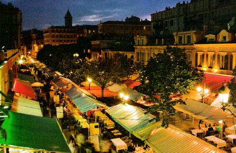 piac Nizzában