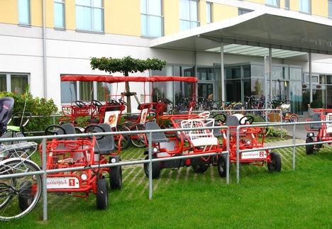 Lutzmannsburgi másik szálloda bejárata