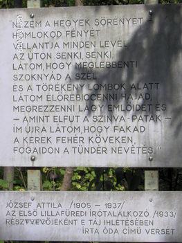József Attila az Óda egy részlete