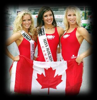 A három Miss Molson Canada