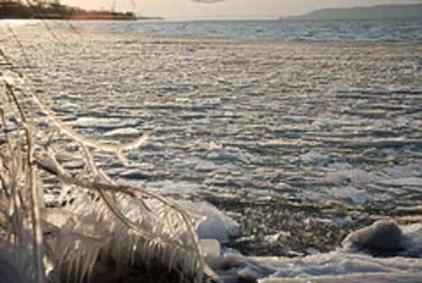 Fagyos, téli, jeges Balaton 7