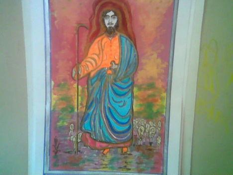 Mózes a nyájával ,én festettem