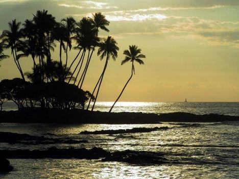 Naplemente a békés a tengerparton