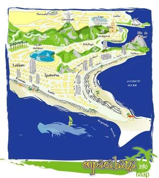 copacabana-térkép