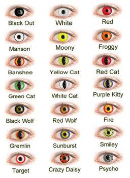 színes kontaktlencsék halloweenra