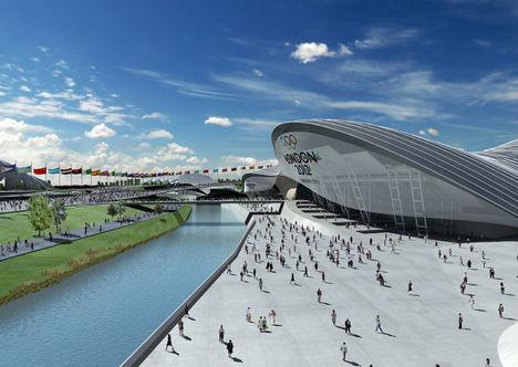 Aquatic Center, az úszóstadion a  2012-es Londoni Olimpiai Játékokon