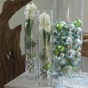 karácsonyi dekorációk - cserepes jácint 002