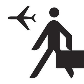 repülő utas pikto