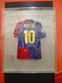 Bajnokok Ligája kiállítás - Messi meze