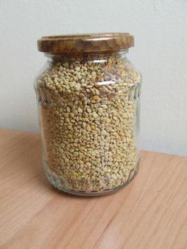 viragpor 0.5kg-os uvegben