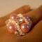 fehér rózsaszín tekla gyűrű
