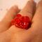 piros swarovski gyűrű