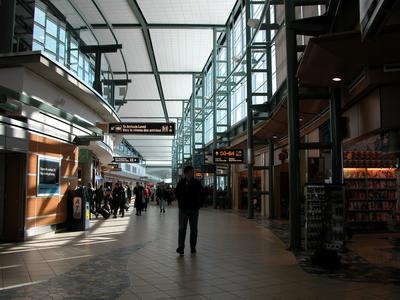 a nemzetközi repülőtér belső csarnoka