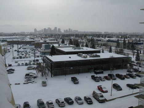 a téli Edmonton