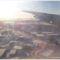Edmonton reptere téli napfényben