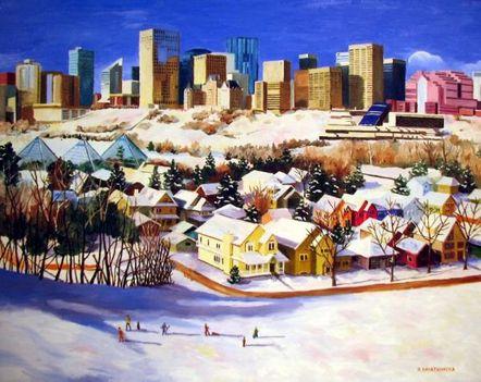 Edmontoni téli kép